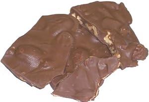 Scott's Cakes Milk Chocolate Pecan Bark in a 8 oz. Christmas Plaid Box