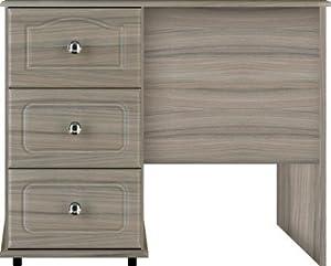 Driftwood Grey Single Pedestal Dressing Table Ready Assembled Genoa Modern Bedroom Furniture