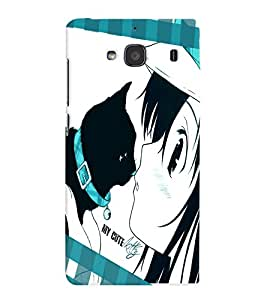 Fuson Cute Girl Back Case Cover for XIAOMI REDMI 2 - D3664