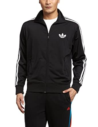 adidas Men's Firebird Track Top - Black/White, X-Large
