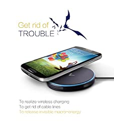 Nillkin Magic Disk Qi Wireless Charger Dock Station (Black) Supports Fast charging Compatible for Samsung S6,S6 EDGE,S6 EDGE PLUS, Samsung NOTE 5,HTC Butterfly(American version),HTC Incredible 4G LTE, Nokia 920,Nokia Lumia Icon 929.Nokia Lumia 1520,Nokia Lumia 930, HTC 8X (V version), HTC M8(American version),Google Nexus 4, LG Google Nexus 5, Nexus6,Google Nexus 7 II(Tablet, Moto 360 watch