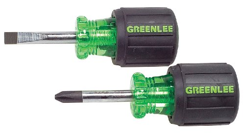 Greenlee Stubby Combo Screwdriver Set, 2 Pc