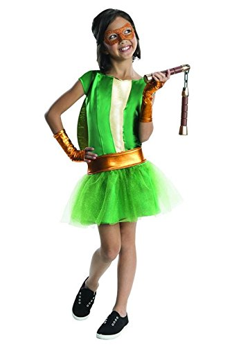 Girls Ninja Turtles Deluxe Michelangelo Tutu Dress Costume