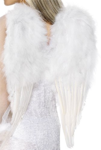 Smiffys Christmas Halloween Costume White Feather Angel Wings