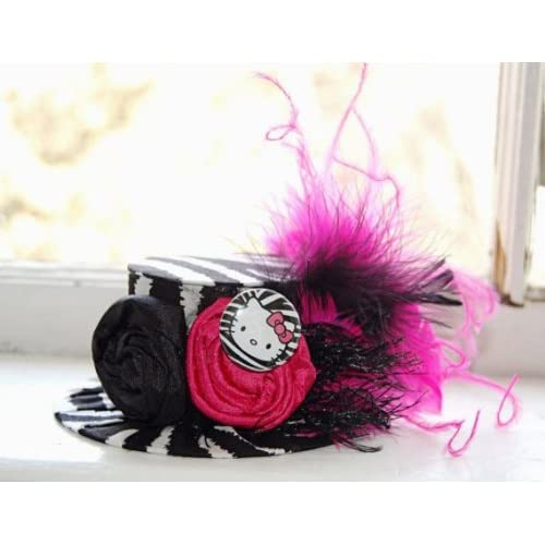 Hot Pink Hello Kitty Mini Top Hat