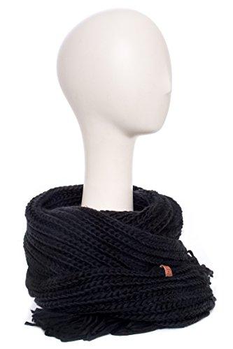 Warm Chunky Knit Fringe Scarf
