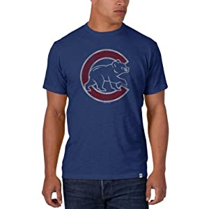 MLB Chicago Cubs Mens Scrum Basic Tee with Team Logo by