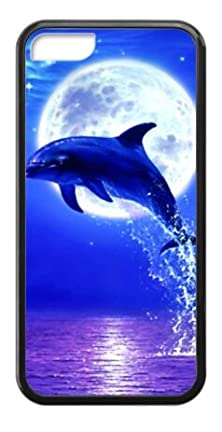 buy Marine Animal,Cute Dolphin Image For Black Plastic And Tpu Iphone 5C Case (Laser Technology)