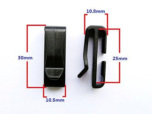 Webbing Ending Clip Quick Slip Keeper Buckle for Backpack Adjusting Strap Black (1