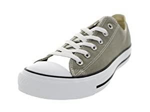 Converse Men's Chuck Taylor All Star Ox Sneaker 13 Silver