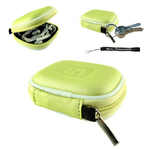 Earbuds Travel Case Compatible For Earphones - Handsfree - Bluetooth + Includes A 4-Inch Ebigvalue Determination Hand Strap As A Gift!!