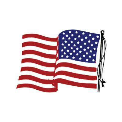 Hot Leathers Helmet Sticker - American Flag, Right Side 2.5