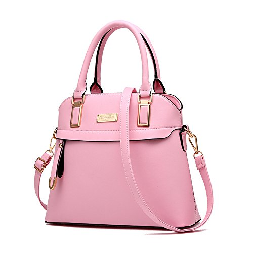 Annsin-Womens-Two-Way-PU-Leather-Handbag-and-Tote-Shoulder-Bag