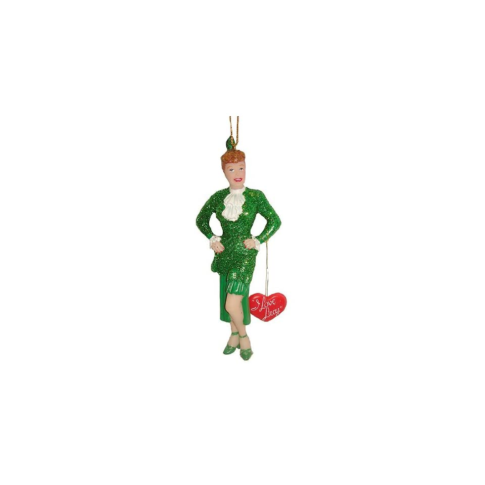 I Love Lucy Lucille Ball Green Dress Christmas Ornament #J2521