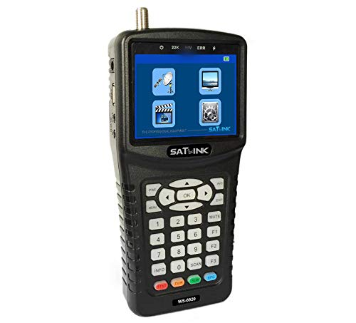 SATLINK WS-6920 DVB-S/S2 Digital Satellite Finder Meter with MPEG-2/MPEG-4 3.5inch TFT LCD Screen QPSK/8PSK/16APSK