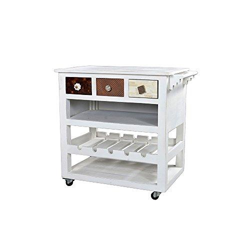 Küchenwagen in Weiß Schubladen Pharao24