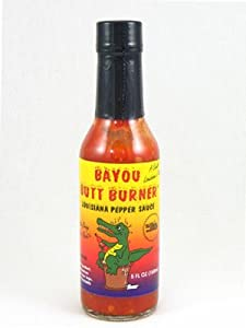 Bayou Butt Burner Louisiana Pepper Hot Sauce 5 Fl Oz by AmericanSpice.com
