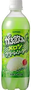 サッポロ がぶ飲み メロンクリームソーダ 500ml×24本