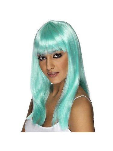 Smiffys 34827SM Womens Glamarama Wig - Neon Aqua