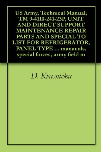 US Army, Technical Manual, TM 9-4110-241-23P, UNIT AND DIRECT SUPPORT MAINTENANCE REPAIR PARTS AND SPECIAL TO LIST FOR REFRIGERATOR, PANEL TYPE PREFABRICATED ... manauals, special forces, army field m