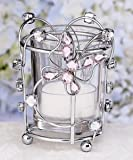 BUTTERFLY CANDLE HOLDER WITH PINK STONES - candleholder Quantity of 14 pc,