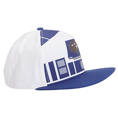 Star Wars Adults Unisex Official R2D2 Snapback Cap (One Size) (White/Blue) (R2d2 Hat)