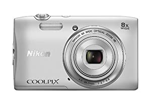 Nikon COOLPIX S3600 20.1 MP Digital Camera with 8x Zoom NIKKOR Lens and 720p HD Video (Silver)