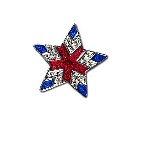Red, White & Blue Star Brooch/Pin