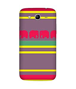 Stripes And Elephant Print (33) Samsung Galaxy Mega 5.8 Case