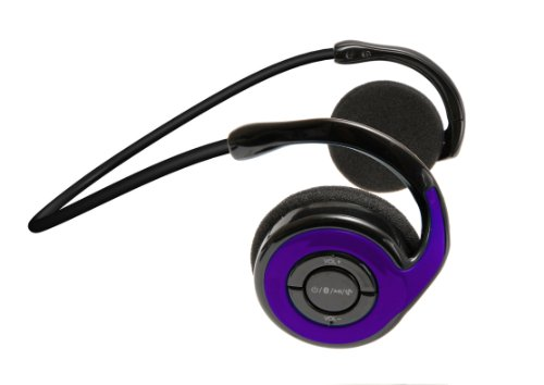 Jarv Joggerz Bt-301 Sports Bluetooth 4.0 Headphones With Built-In Microphone - Purple (Updated Version)
