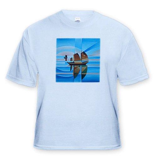 Soft Skies and Cerulean Seas chinese junk junks deep blue sky blue bright blue cerulean Light Blue Infant Lap Shoulder Tee 6M