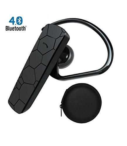 Soaiy® 14 Day Standby,Bluetooth 4.0 Stereo Wireless Headset Handsfree Headphone For Apple Iphone 5S/5C/5,Iphone 4S/4 And Samsung Galaxy S5/S4/S3,Lg And Other Bluetooth Device, Talking No Delay (Black)