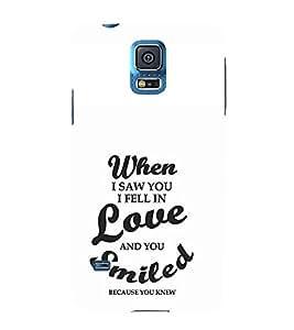 EPICCASE I fell in love Mobile Back Case Cover For Samsung Galaxy S5 Mini (Designer Case)