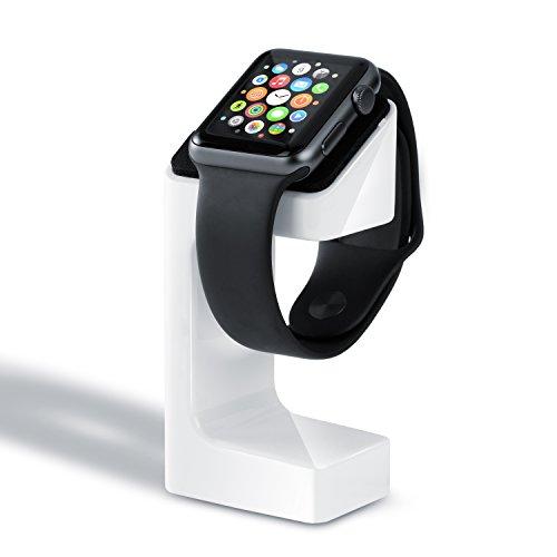 CSL - Apple Watch stand de charge | Charging Docking / Station Support pour tous les modèles Apple Watch 42mm et 38mm Basic / Sport / Edition | blanc