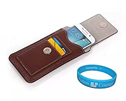 SumacLife Vertical PU Leather Credit Card Holder Waist Packs With Belt Loop Pouch Case Holster for iPhone 6 / Samsung Galaxy S6 / Edge / S5 Active / Sport / Galaxy Alpha / HTC One M9 / M8 for Windows / ASUS PadFone X 5'' / Sony Xperia Z4 + TM Wisdom Courage (Brown)