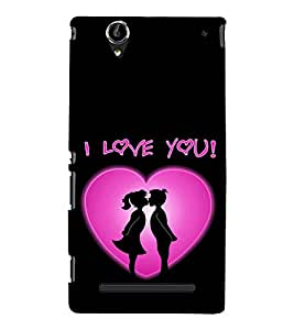 EPICCASE Couple love Mobile Back Case Cover For Sony Xperia T2 (Designer Case)