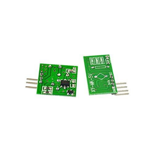 BOOOLE 433M Ultra Regenerative Module Wireless Transmitter Module Burglar Alarm Transmitter Receiver - DIY Maker Open Source
