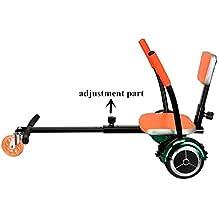 Everbilt Adjustable Hover Kart Adapter – Black Orange Adjustable Two Wheel Self Balancing Seat Attachment Scooter...