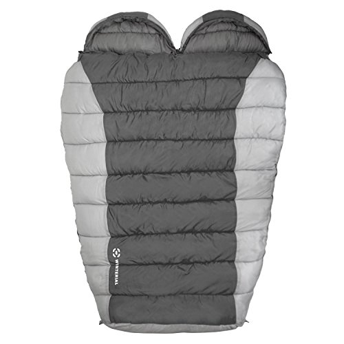 Winterial-Double-Mummy-Sleeping-Bag-Camping-Backpacking-Warm-2-person