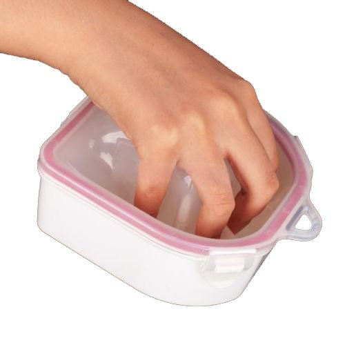 1Pcs Soaking Soak Bowl Tray Nail Art Wash Soakers Manicure Treatment Remover