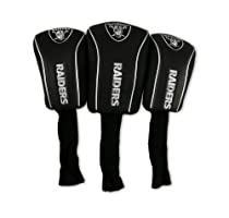 NFL Oakland Raiders 3 Pack Mesh Longneck Headcover Set