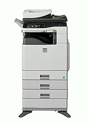 Refurbished Sharp MX-C402SC Letter-size Color Multifunction Printer - Print, Copy, Scan, Fax, File, 2 Trays, Cabinet, Auto Duplex, RSPF, 40ppm