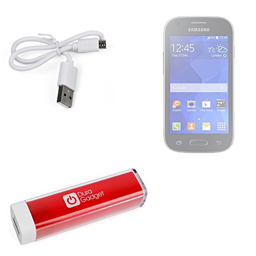 Duragadget High Capacity Universal Power Bank In Shocking Red With Durable Micro Usb Cable For Samsung Galaxy Ace / Samsung Galaxy Avant