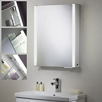 Plateau Single Door Bathroom Cabinet With Light