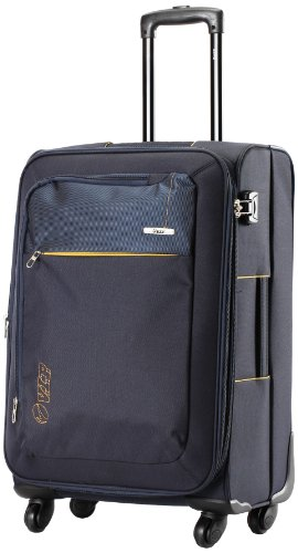 Vip VIP Neon Strolly Exp 4 Wheel Nylon Blue Softsided Carry-On (STNEO75WBLU) Small Luggage (Black)