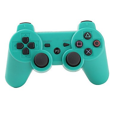 PS3 Controller Wireless Double Shock Gamepad for Playstation 3, Wireless PS3 Controller with Charging Cable (Waterblue) (Color: Waterblue No charging cable)