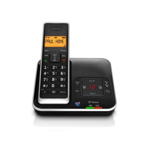Serene BT Xenon 1500 Telephone with Answer Machine - Single with accompanying HSB Microfibre Cleaning Glove image