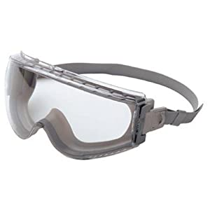 Uvex S3960C Stealth Safety Goggles, Gray Body, Clear Uvextreme Anti-Fog Lens, Neoprene Headband