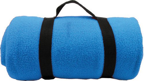 Simplicity New 50 X 60 Polar Fleece Anti-Pill Fleece Blankets Electric Blue