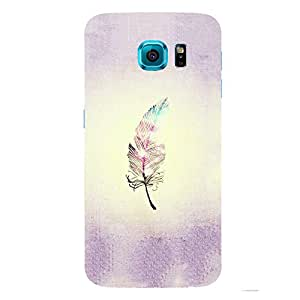 Back cover for Samsung Galaxy S6 Edge Plus Colourful Feather